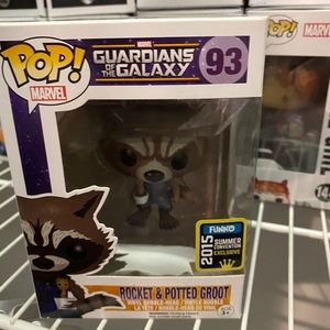 Funk Pop! Rocket and potted groot